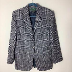 Lauren Ralph Lauren vintage Tweed Wool Gray Blazer